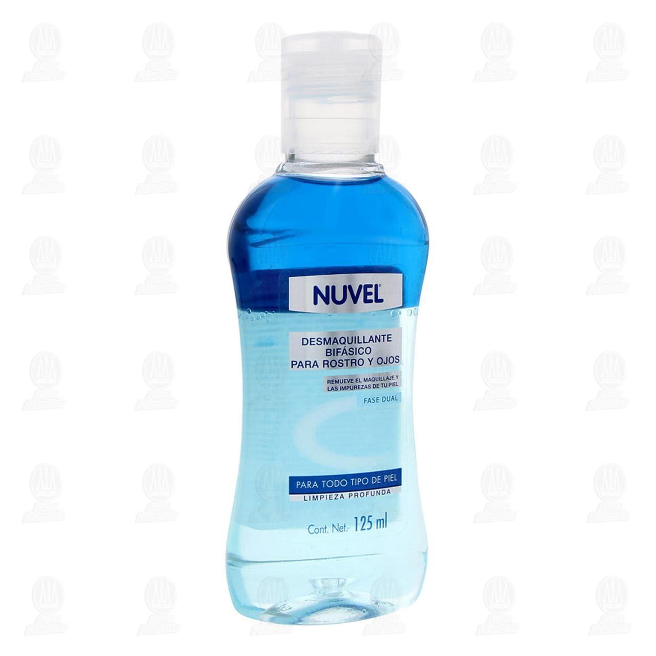 Comprar Desmaquillante Nuvel Bifásico para Rostro y Ojos, 125 ml. en Farmacias Guadalajara