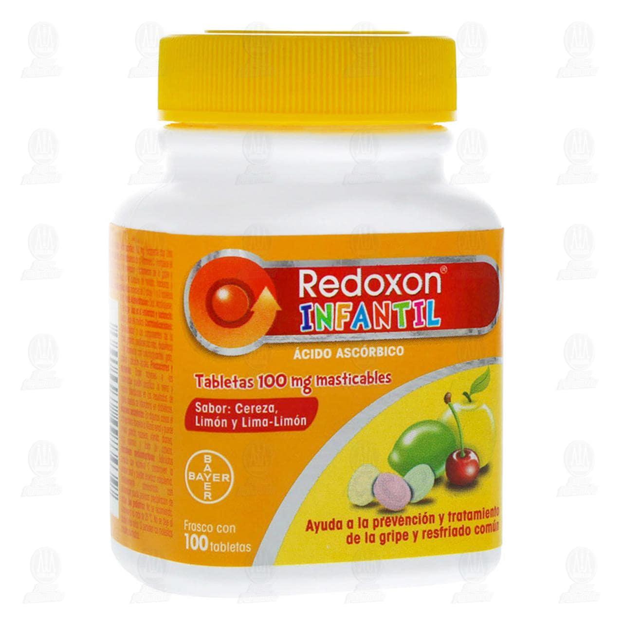 Comprar Redoxon Infantil 100mg Vitamina C 100 Tabletas Masticables en Farmacias Guadalajara
