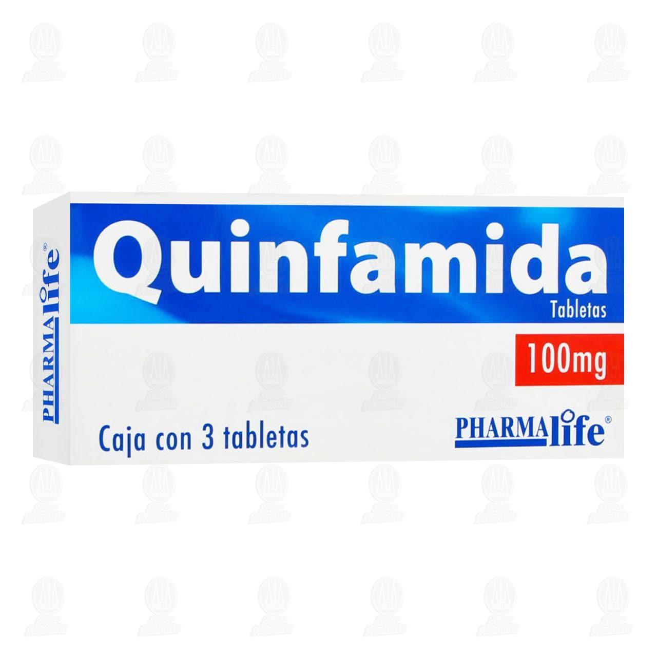 Comprar Quinfamida 100mg 3 Tabletas Pharmalife en Farmacias Guadalajara