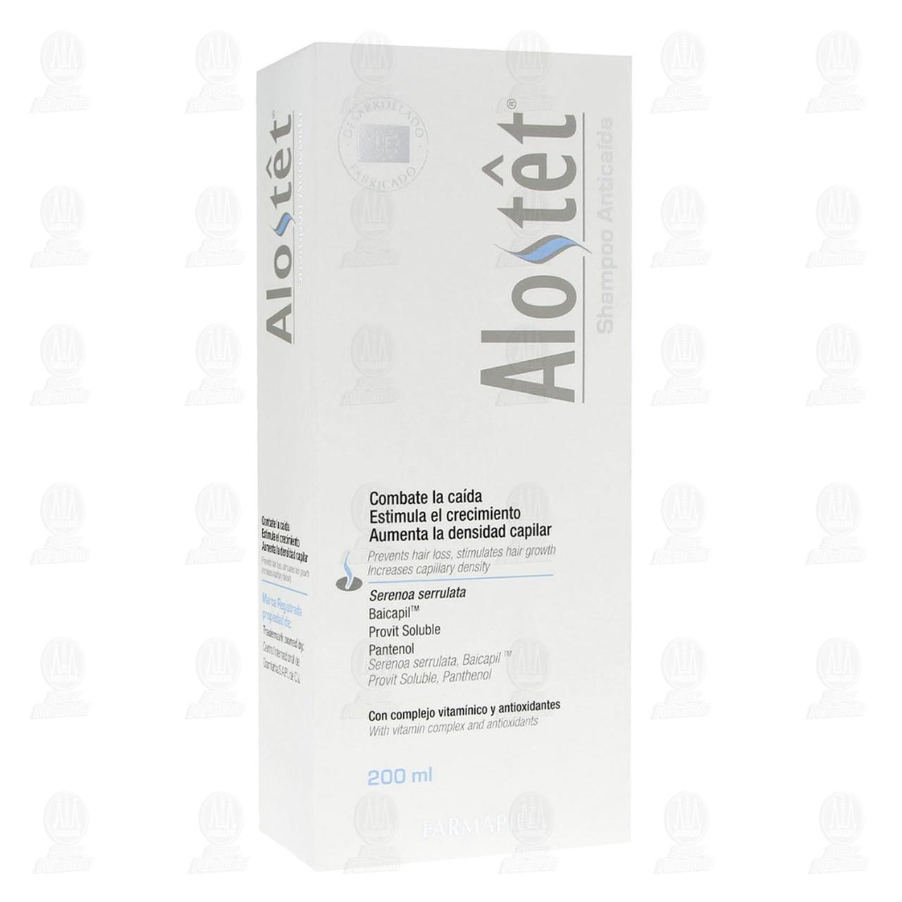Comprar Alostet Shampoo Anticaída, 200 ml. en Farmacias Guadalajara