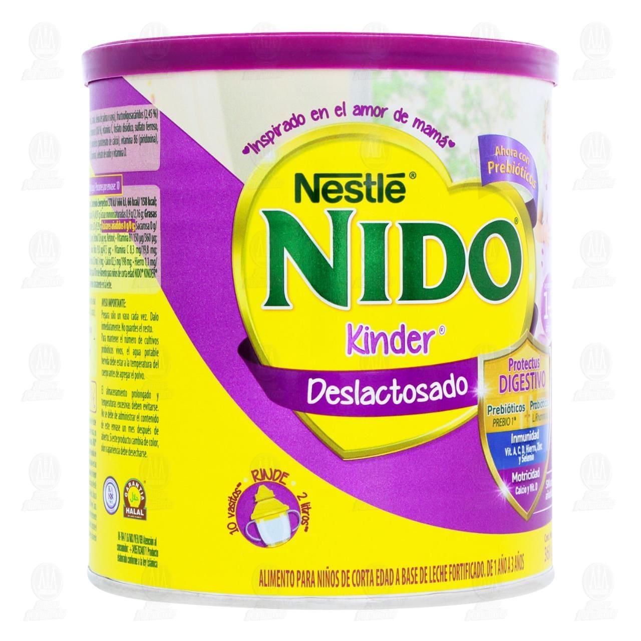 Comprar Producto Lácteo Nestlé Nido Kinder Deslactosado en Polvo (Edad 1-3 Años), 360 gr. en Farmacias Guadalajara