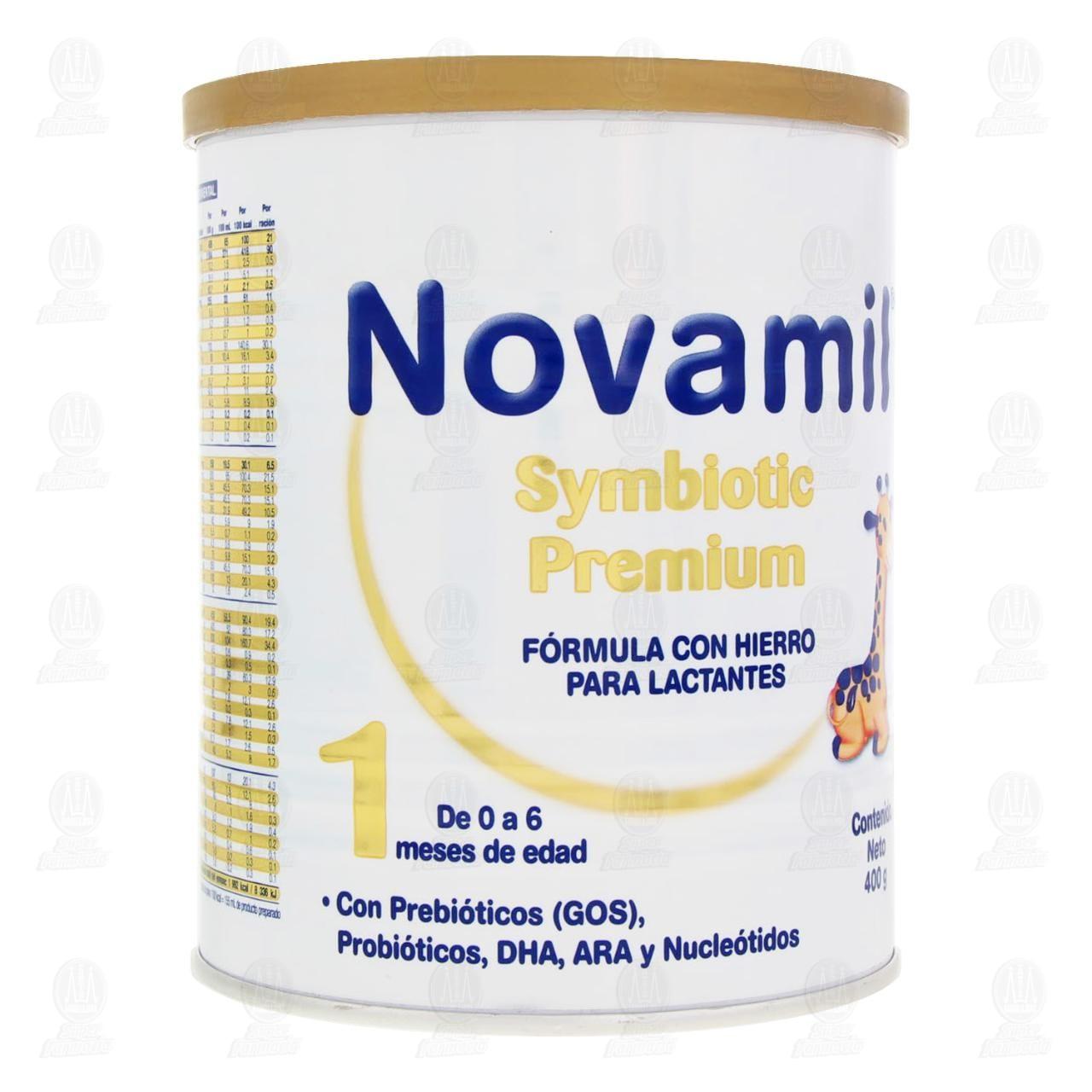 Comprar Fórmula Láctea Novamil Symbiotic Premium Etapa 1 en Polvo (Edad 0-6 Meses), 400 gr. en Farmacias Guadalajara