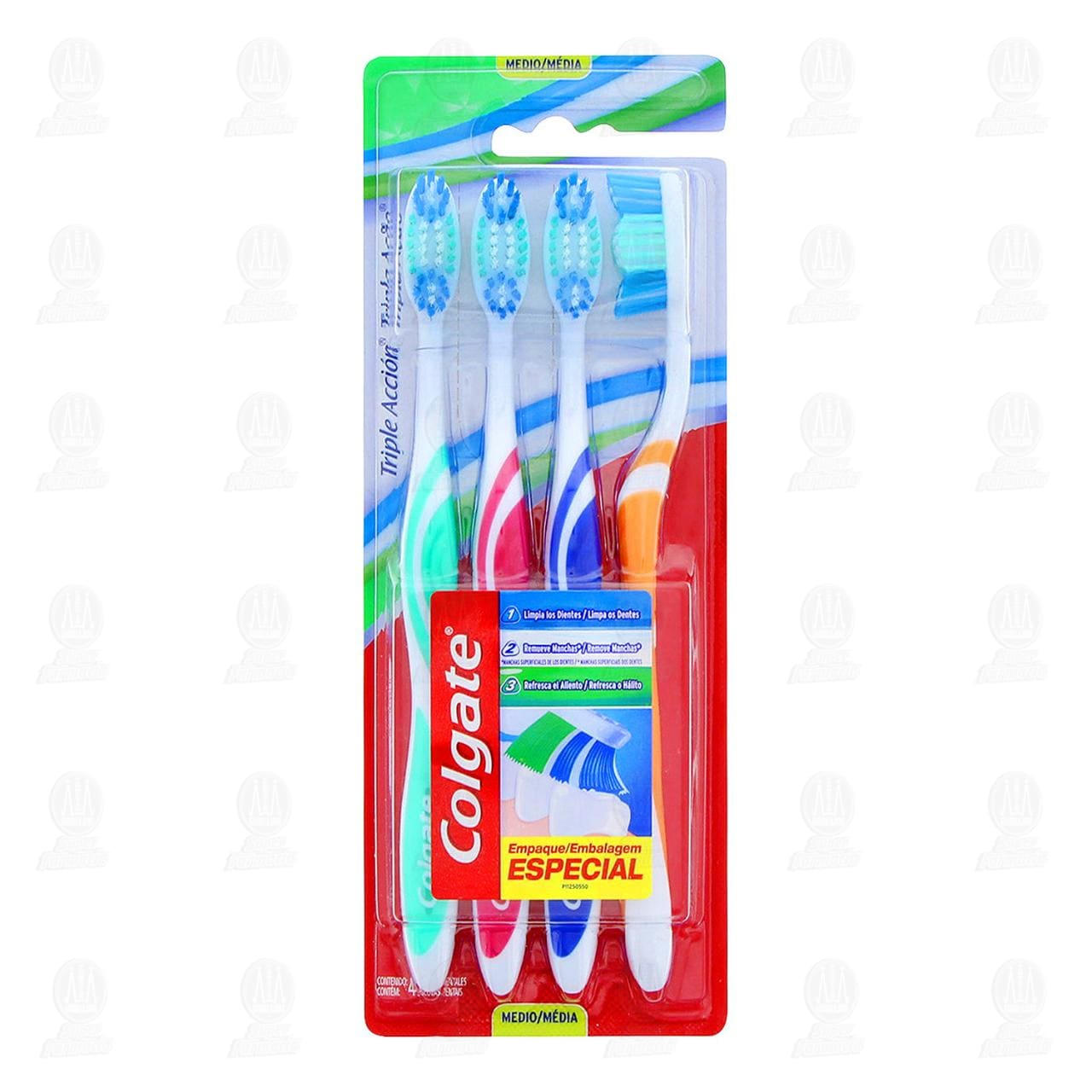 Cepillo dental Colgate Triple Acción 4, pzas.