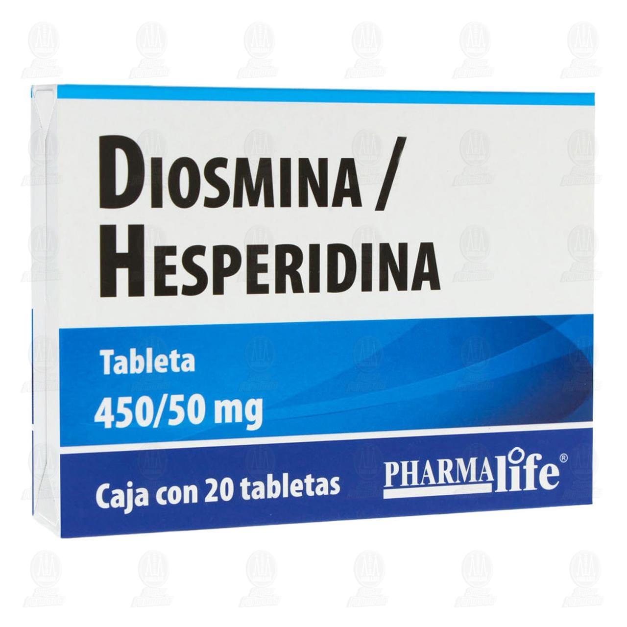 Diosmina/Hesperidina Tableta 450/50mg con 20 Tabletas