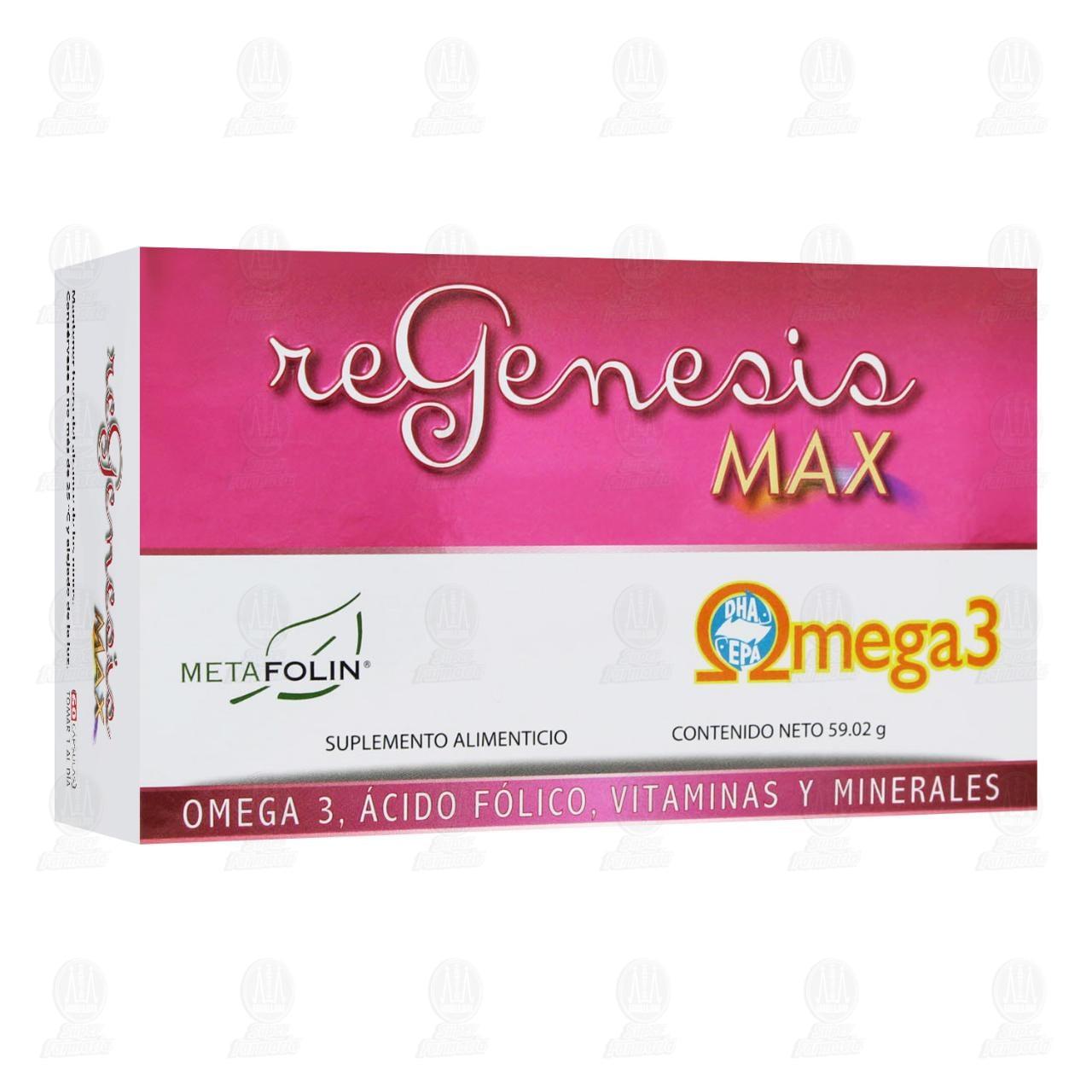 Comprar Regenesis Max 60 Cápsulas en Farmacias Guadalajara