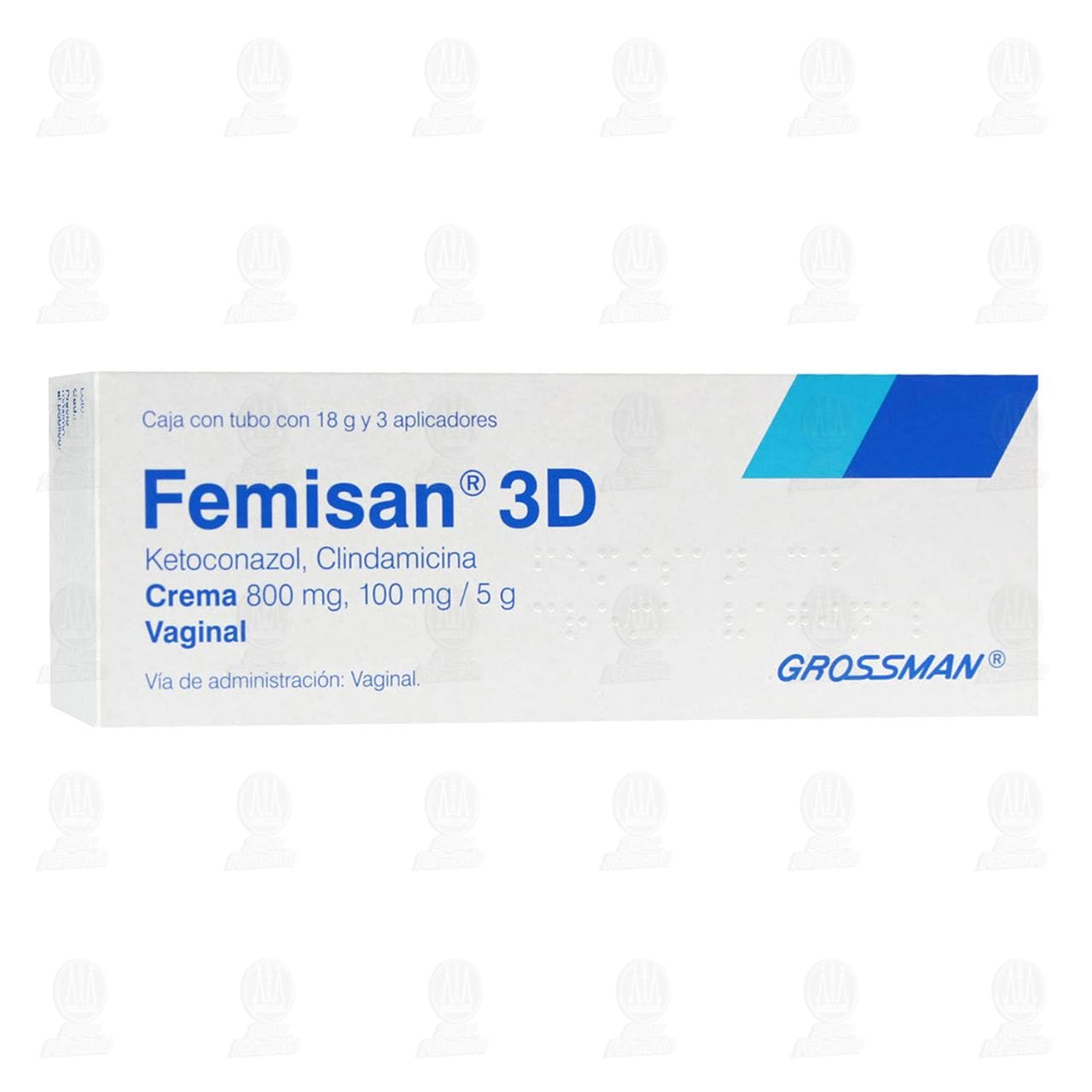 Comprar Femisan 3D 18gr Crema 3 Aplicadores en Farmacias Guadalajara