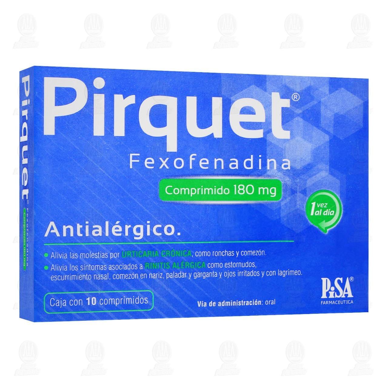 Comprar Pirquet 180mg 10 Comprimidos en Farmacias Guadalajara