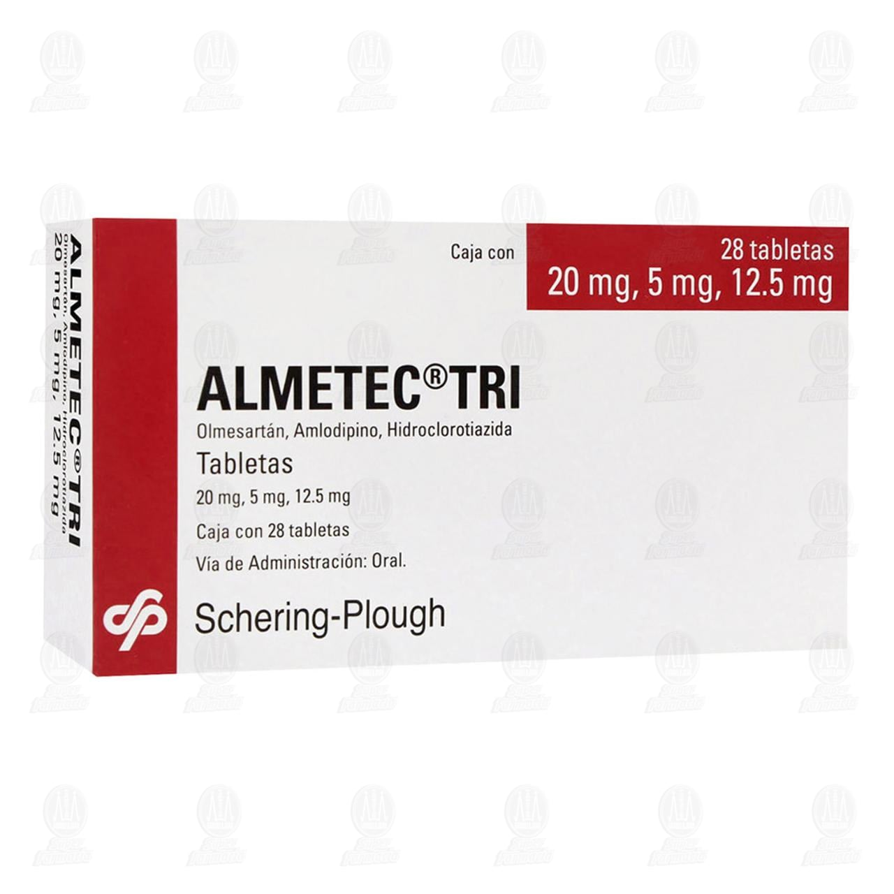 Comprar Almetec Tri 20mg/5mg/12.5mg 28 Tabletas en Farmacias Guadalajara
