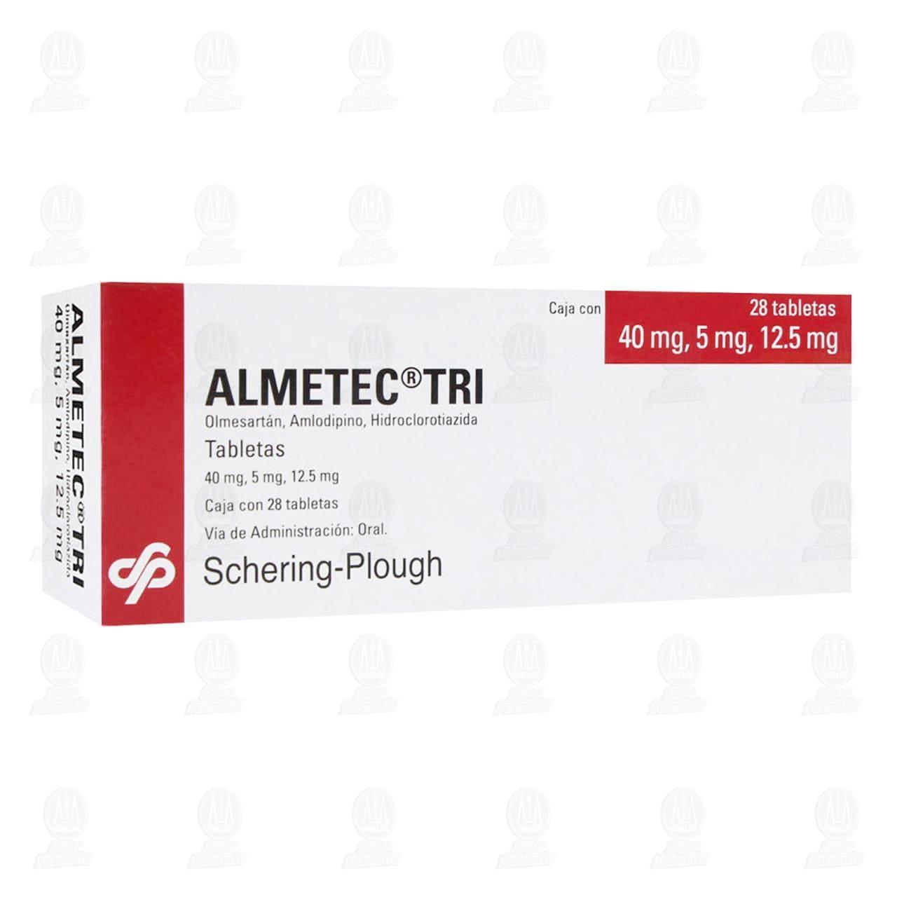 Comprar Almetec Tri 40mg/5mg/12.5mg 28 Tabletas en Farmacias Guadalajara
