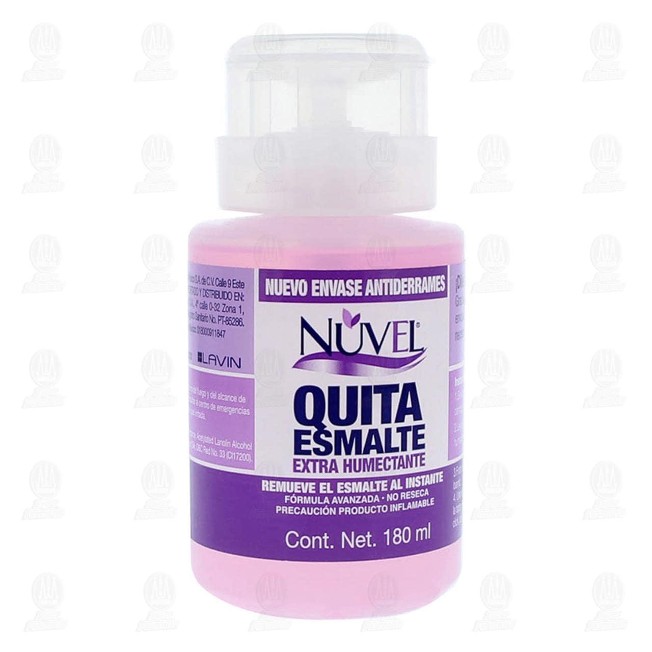 Quitaesmalte Nuvel Extra Humectante, 180 ml.