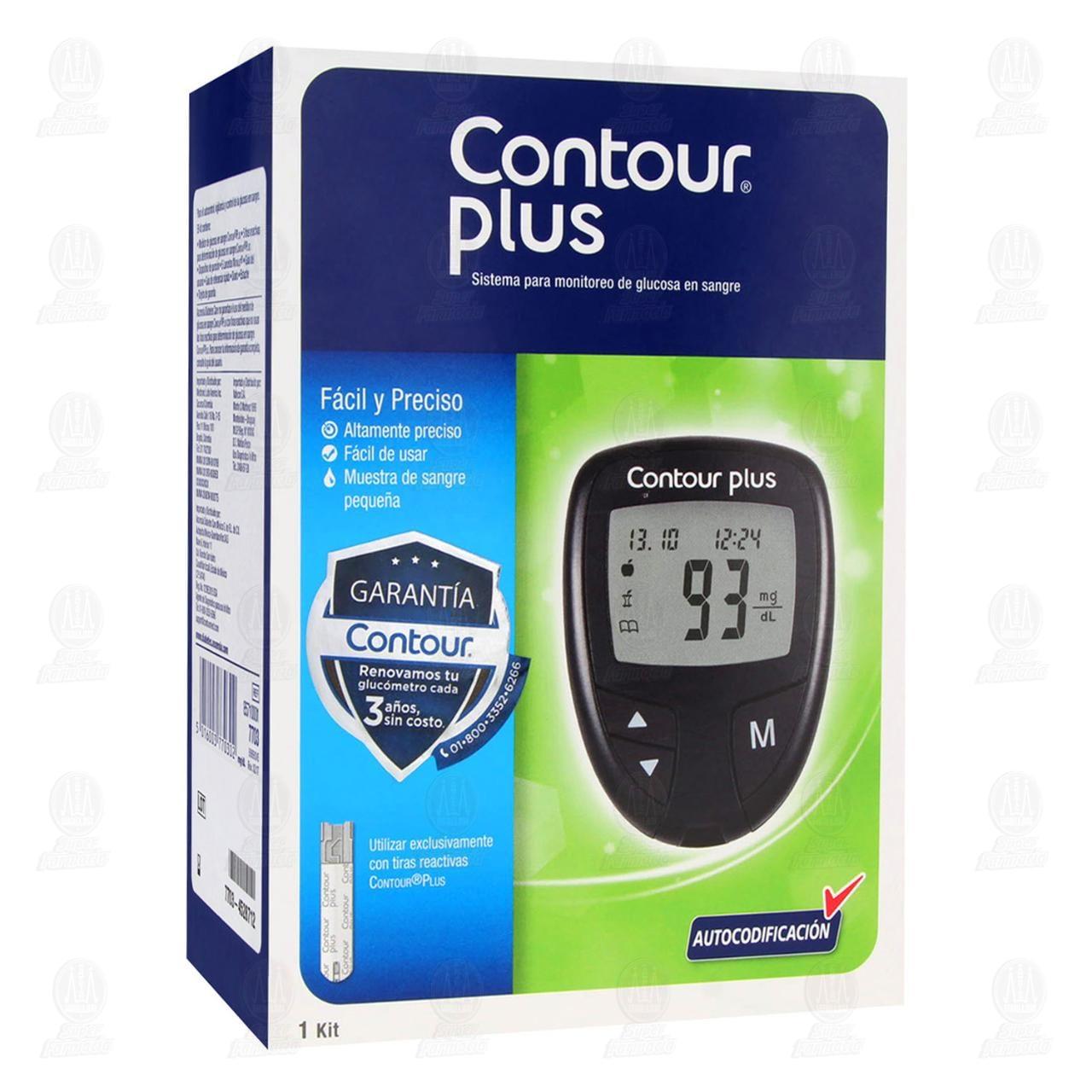 Comprar Contour Plus 1 Kit Sistema de Glucosa en Farmacias Guadalajara