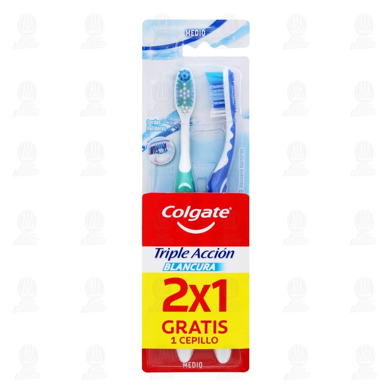 Comprar Cepillo Dental Colgate Triple Acción Blancura, 2 pzas. en Farmacias Guadalajara