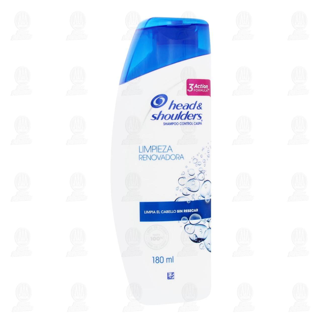 Shampoo Head & Shoulders Limpieza Renovadora, 180 ml.