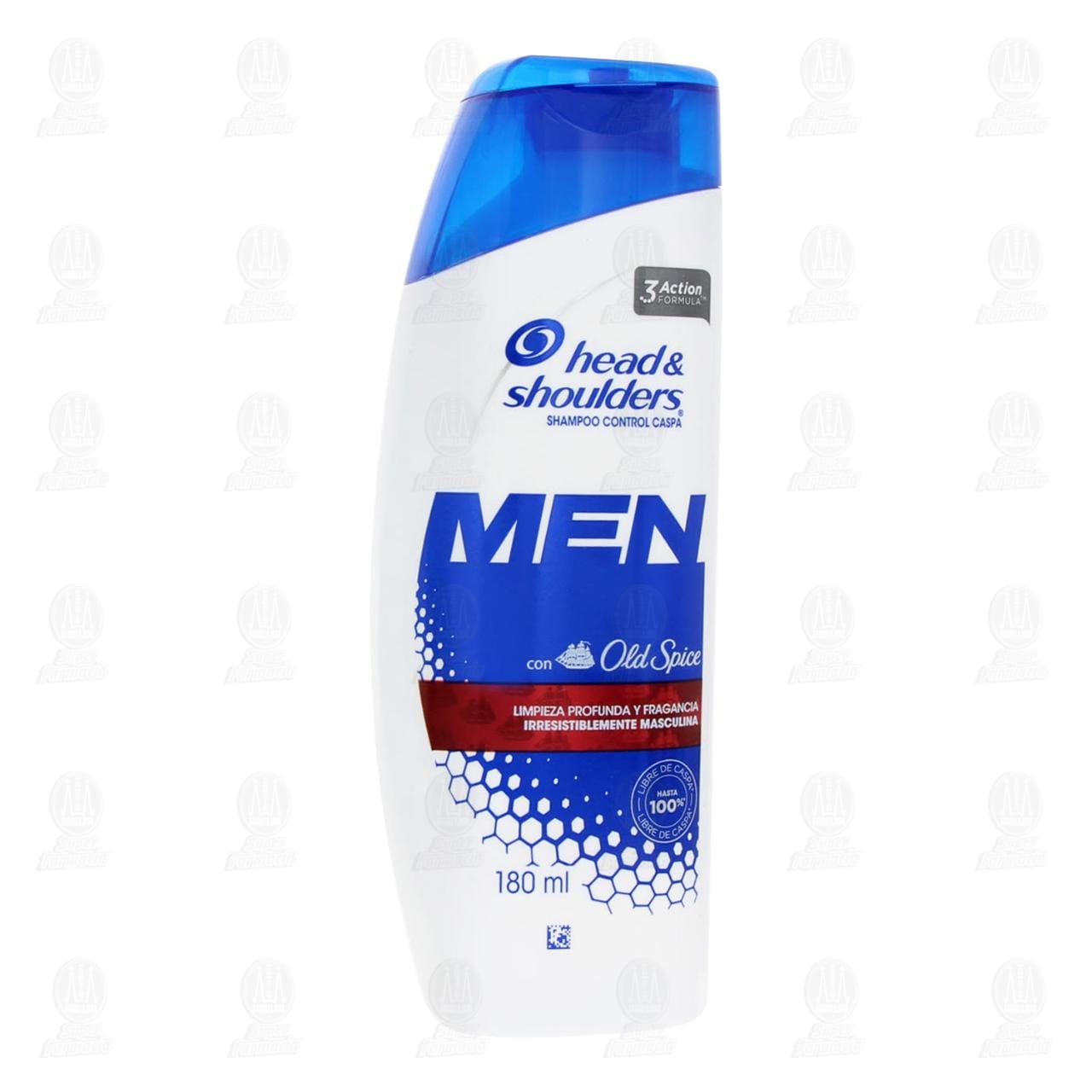 Comprar Shampoo Head & Shoulders Men con Old Spice Control Caspa, 180 ml. en Farmacias Guadalajara