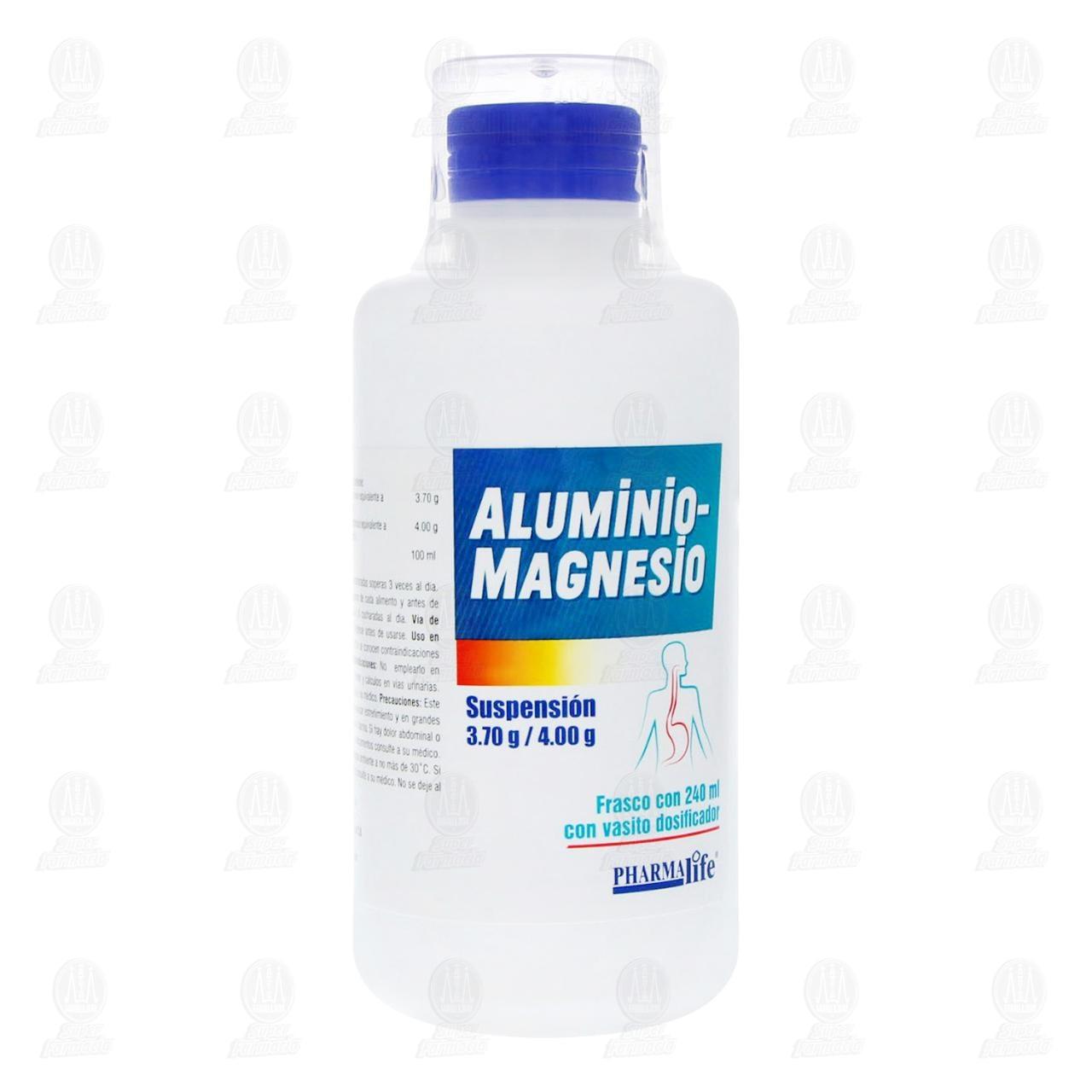 Comprar Aluminio Magnesio 3.7g/4g 240ml Suspensión Pharmalife en Farmacias Guadalajara