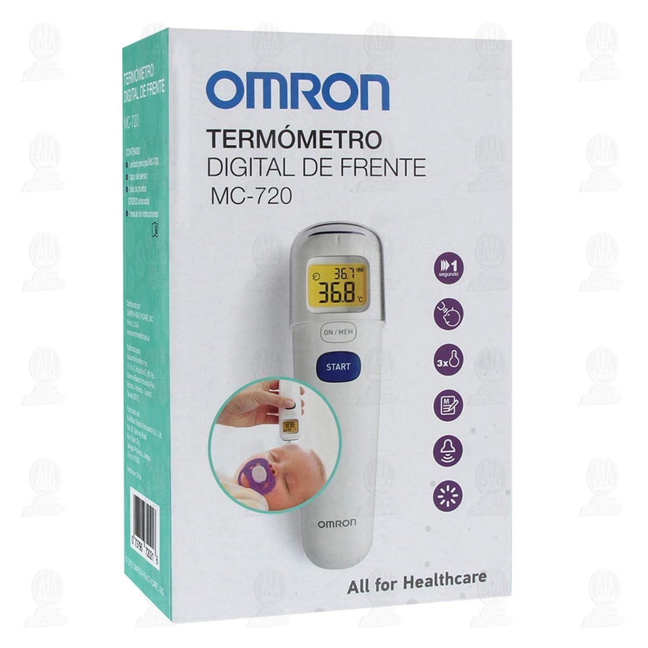 Comprar Termómetro Digital de Frente Omron MC-720 en Farmacias Guadalajara