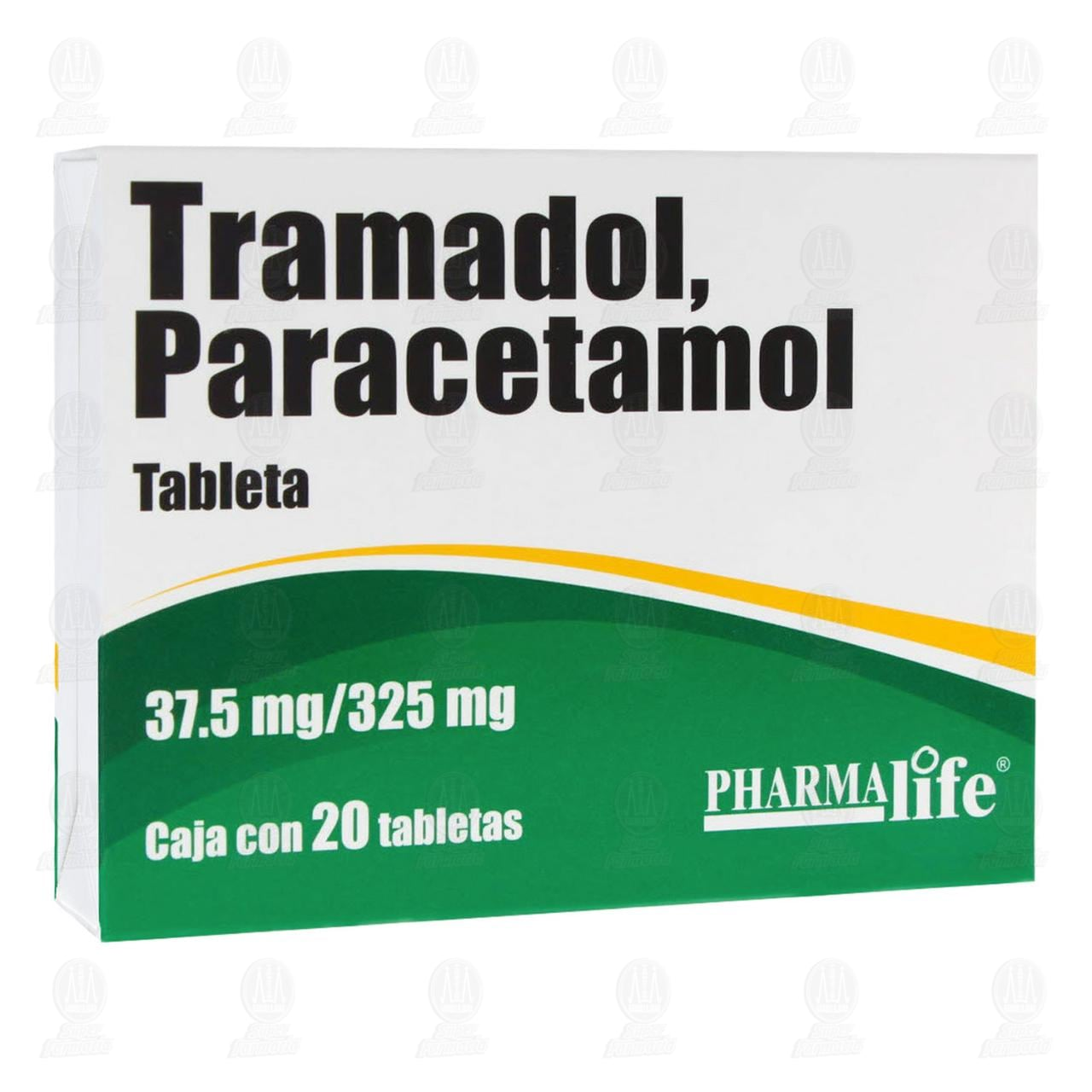 Tramadol / Paracetamol 37.5mg/325mg 20 Tabletas Pharmalife