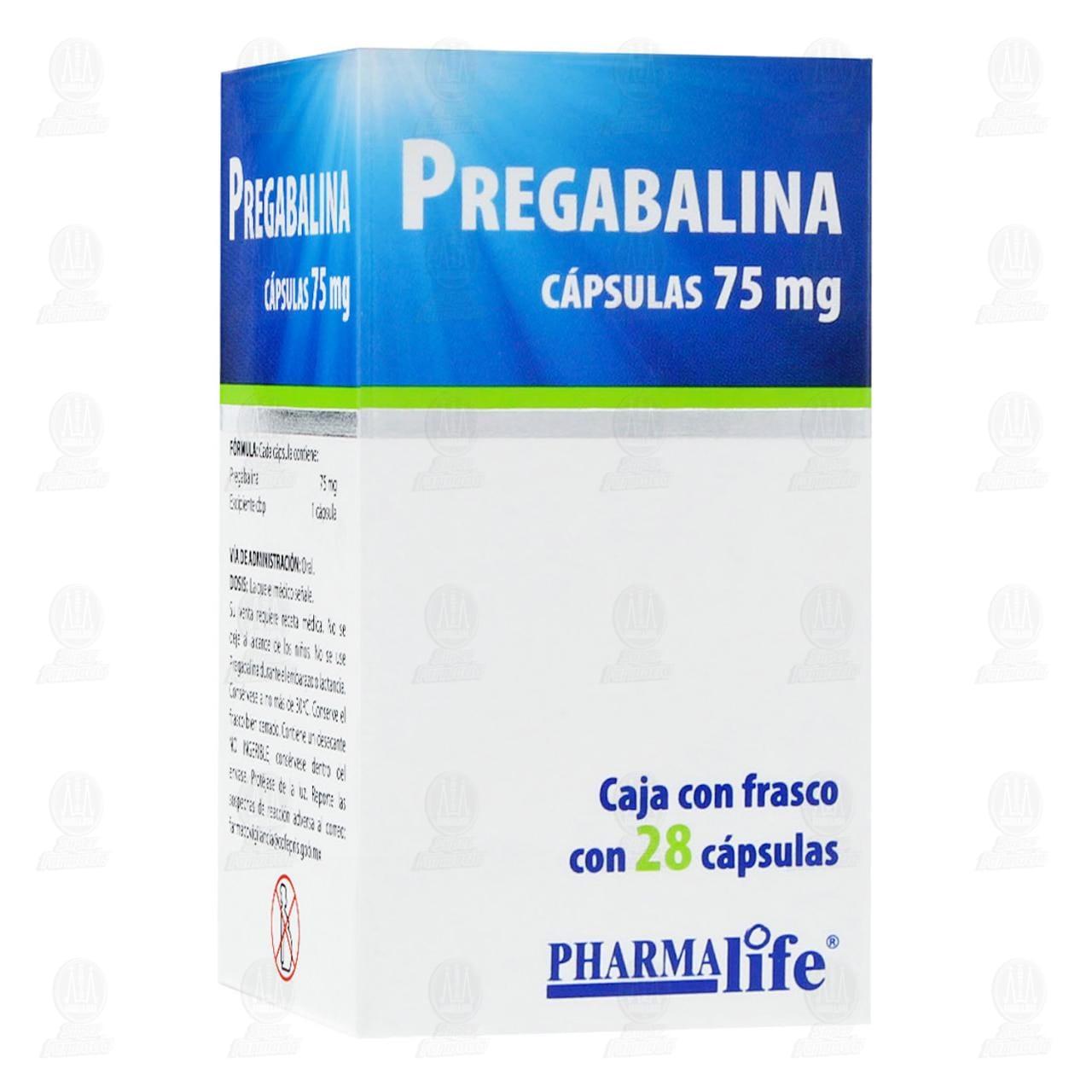 Comprar Pregabalina 75mg 28 Cápsulas Pharmalife en Farmacias Guadalajara