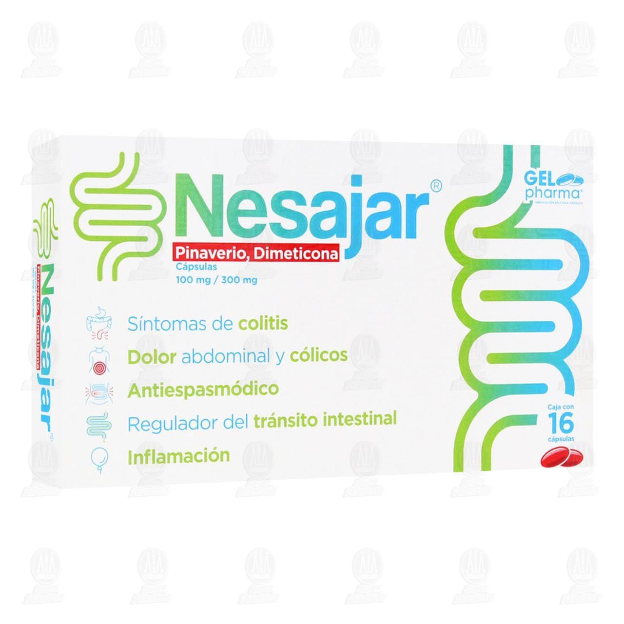 Comprar Nesajar 100mg/300mg 16 Cápsulas en Farmacias Guadalajara