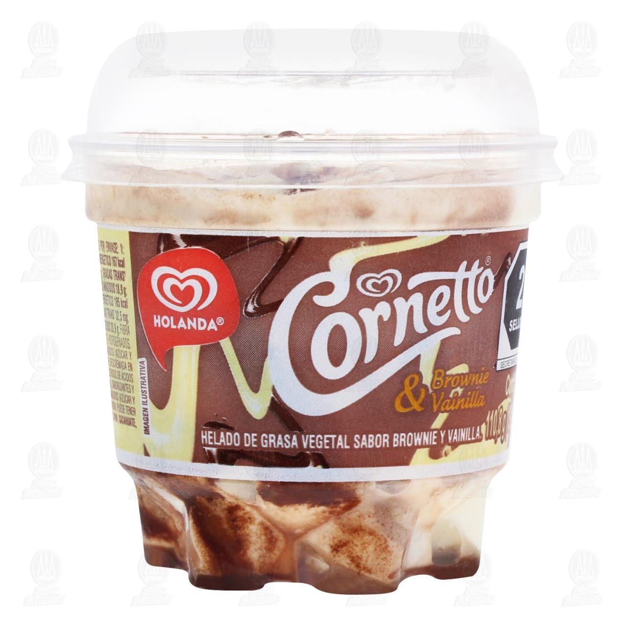 Helado en Copa Cornetto Brownie Vainilla 190 ml.