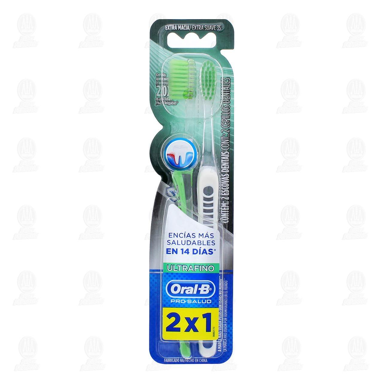 Comprar Cepillos Dentales Oral-B Pro-Salud Ultrafino, 2 pzas. en Farmacias Guadalajara
