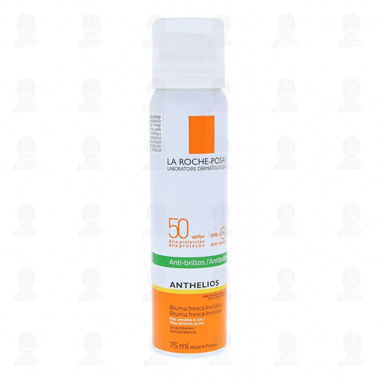 Comprar La Roche Posay Protector Solar Anthelios Bruma Fresca Invisible Anti-Brillos FPS 50, 75 ml. en Farmacias Guadalajara