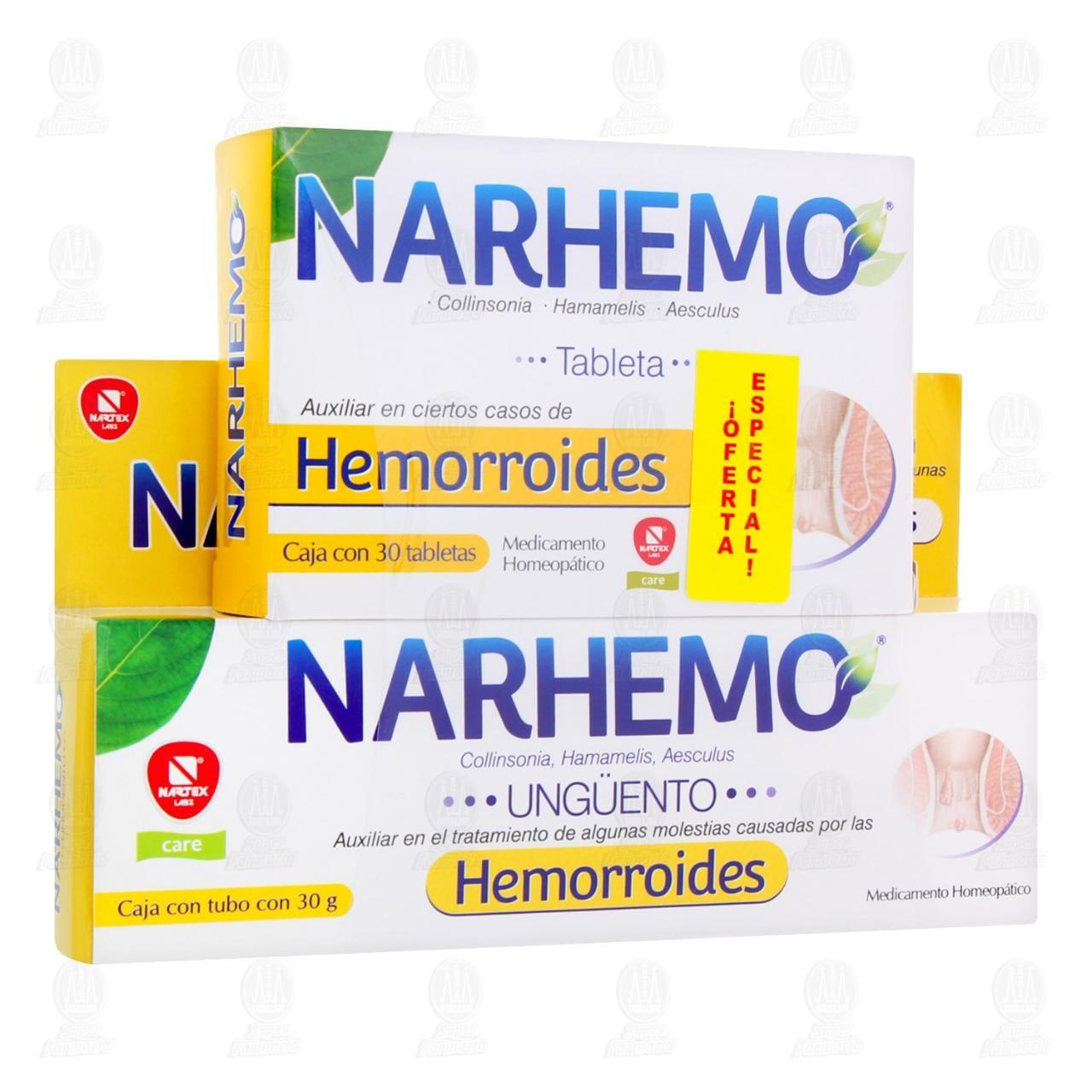 Narhemo Ungüento 30gr+30 Tabletas Precio Especial