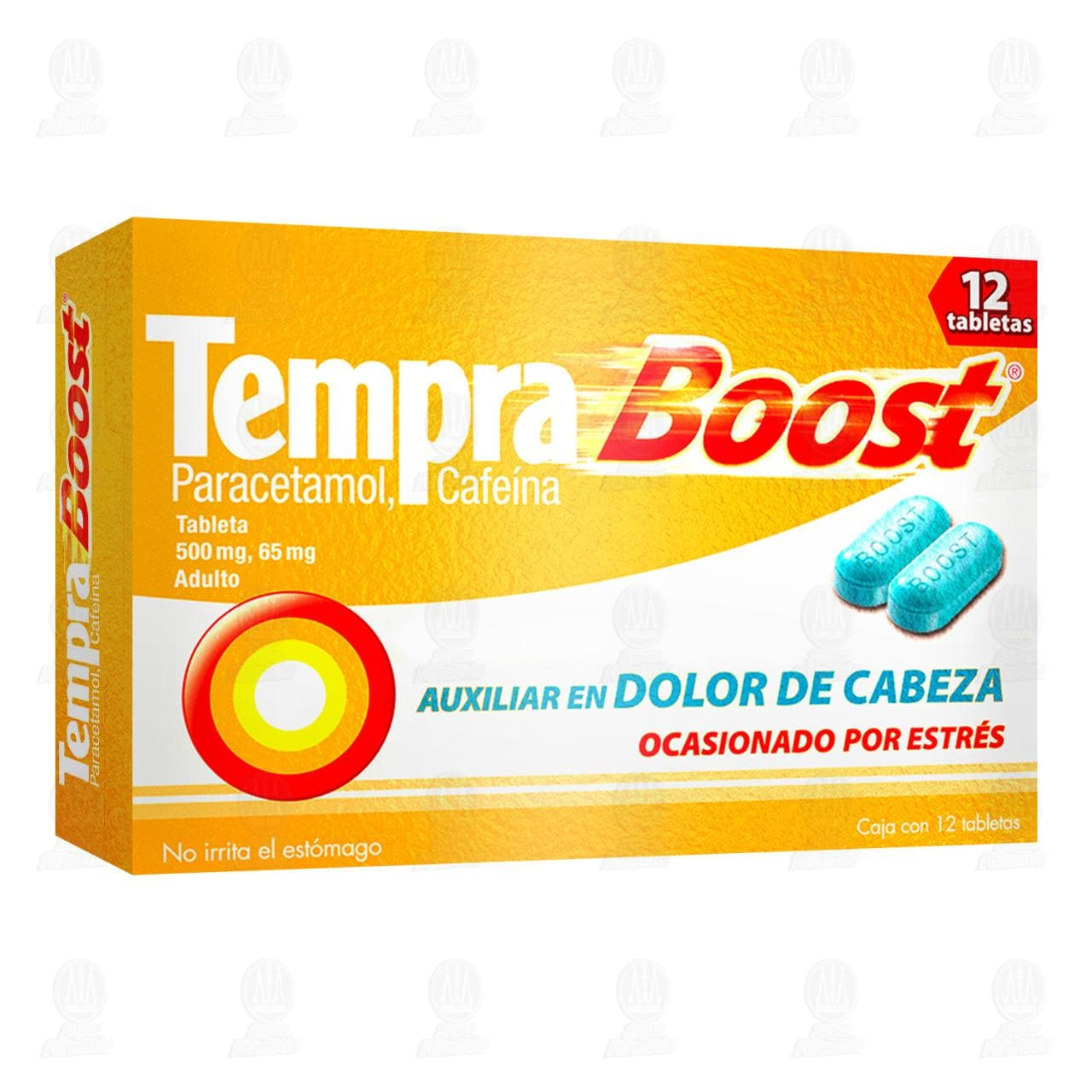 Comprar Tempra Boost 500mg/65mg 12 Tabletas en Farmacias Guadalajara