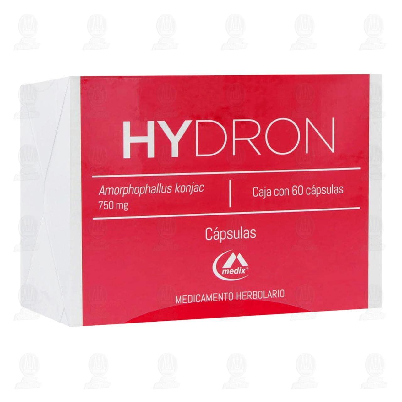 Comprar Hydron 750mg 60 Cápsulas en Farmacias Guadalajara