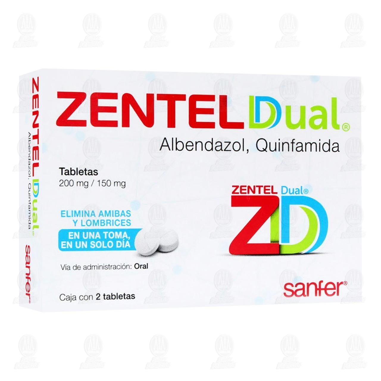 Comprar Zentel Dual 200mg/150mg 2 Tabletas en Farmacias Guadalajara