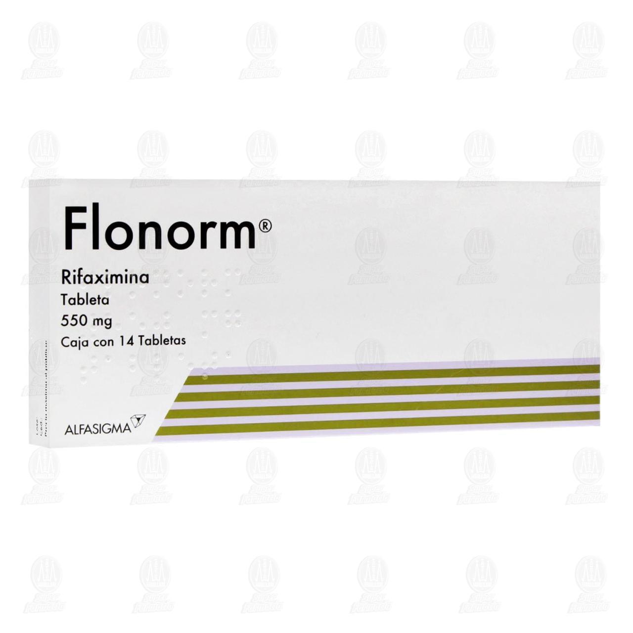Comprar Flonorm 550mg 14 Tabletas en Farmacias Guadalajara