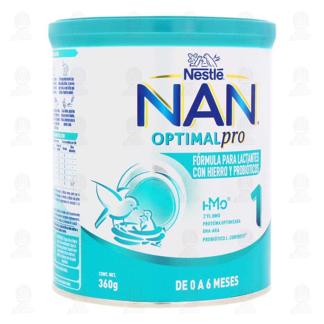 Comprar Fórmula Infantil NAN 1 Optimal Pro (Edad 0 a 6 Meses), 400 gr. en Farmacias Guadalajara