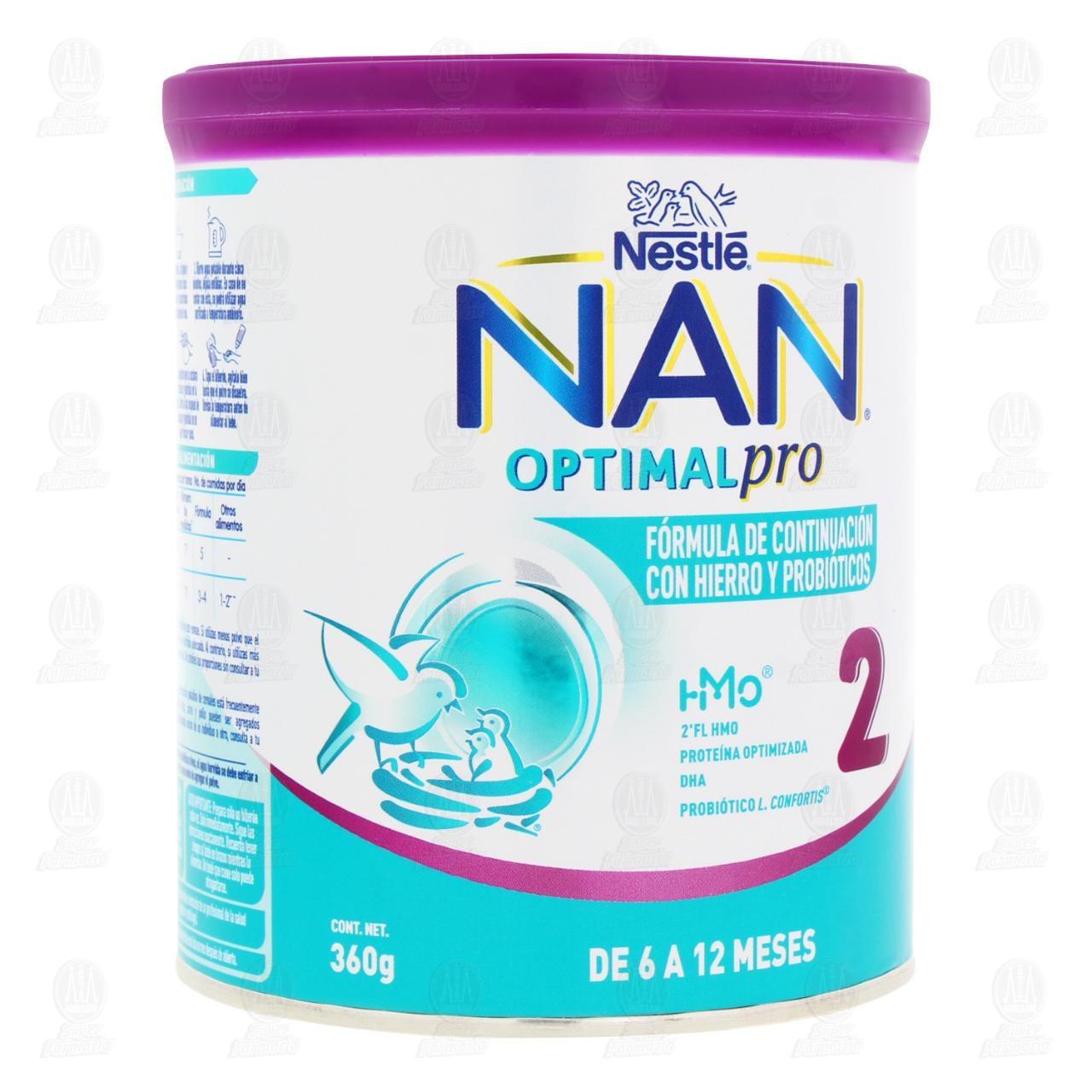 Comprar Fórmula Infantil NAN 2 Optimal Pro (Edad 6 a 12 Meses), 400 gr. en Farmacias Guadalajara