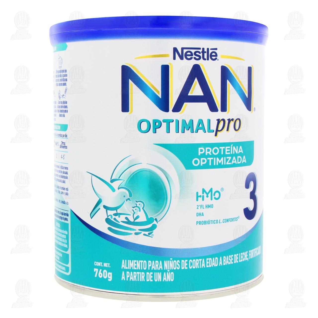 Comprar Alimento para Niños NAN 3 Optimal Pro (A Partir de 1 Año), 800 gr. en Farmacias Guadalajara