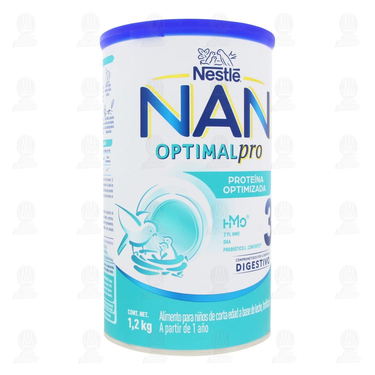 Fórmula Infantil Nestlé Nan Optipro 3 en Polvo (Edad 1-3 Años), 1.2 kg.