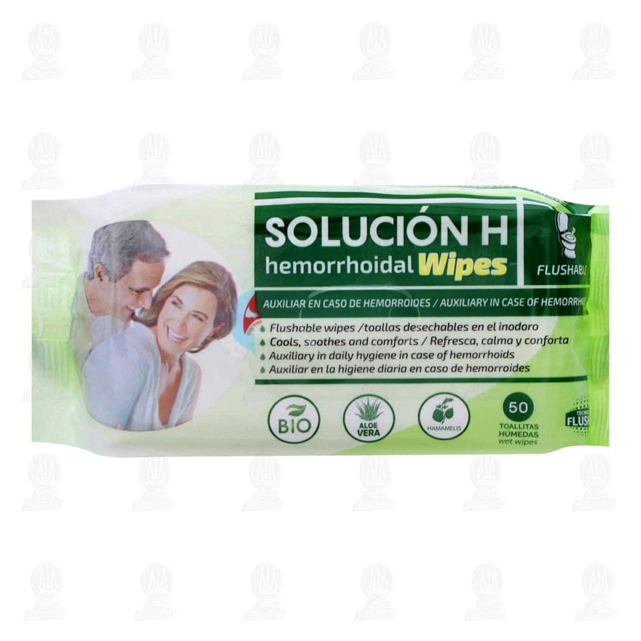 Solución H Hemorroidal Toallas 50 Piezas