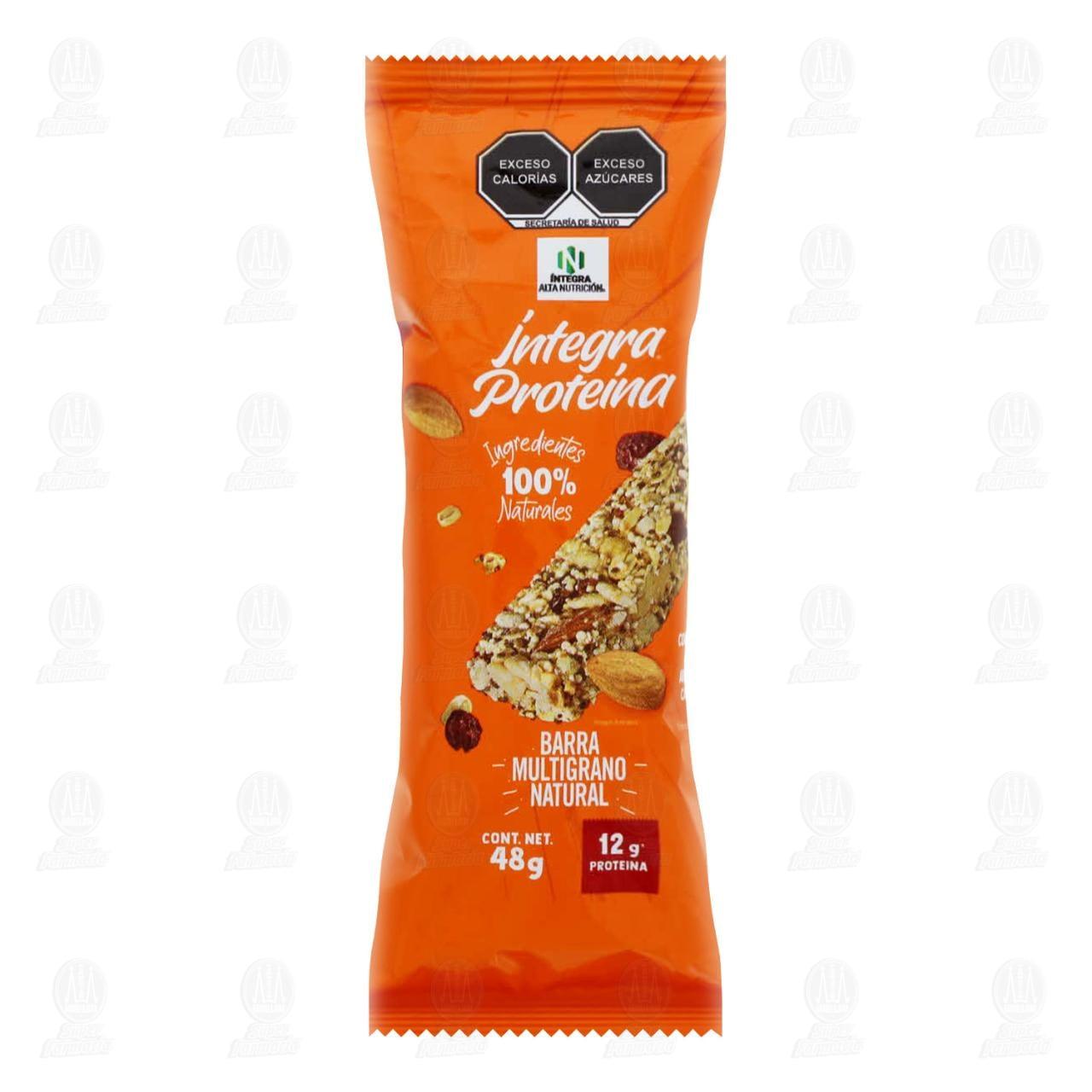 Barra Íntegra Proteína Multigrano Sin Azúcar, 48 gr.