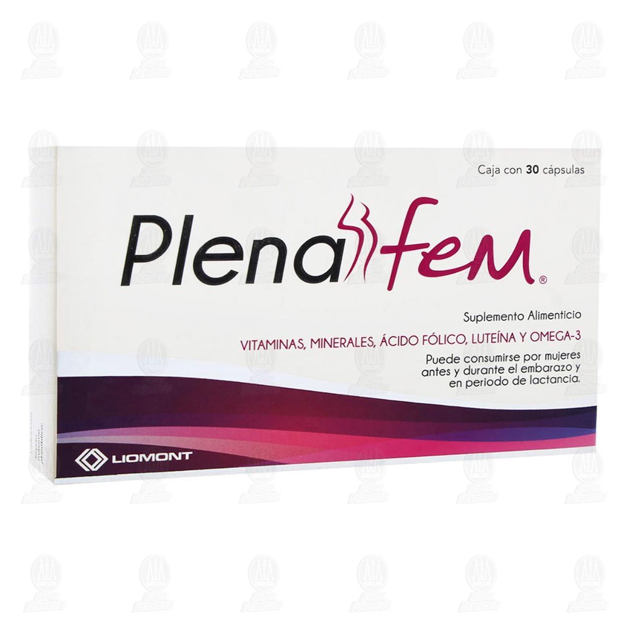 Comprar Plenafem 30 Cápsulas en Farmacias Guadalajara