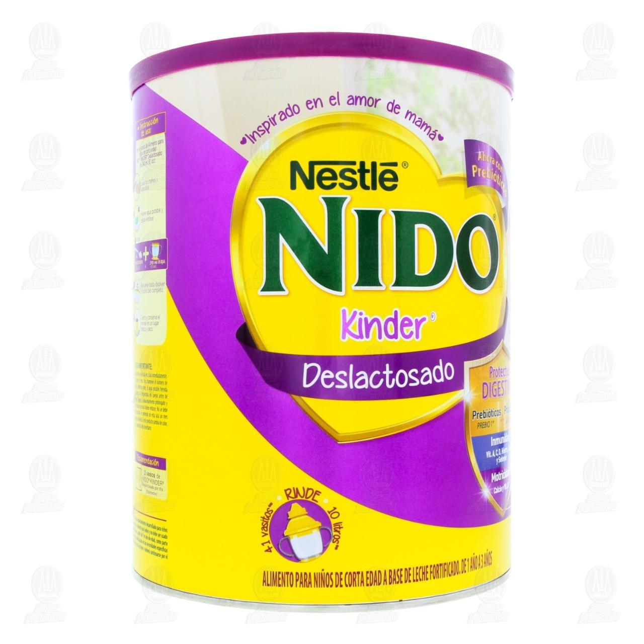 Comprar Alimento para Niños Nido Kinder Deslactosado (Edad 1 a 3 Años), 1.5 kg. en Farmacias Guadalajara