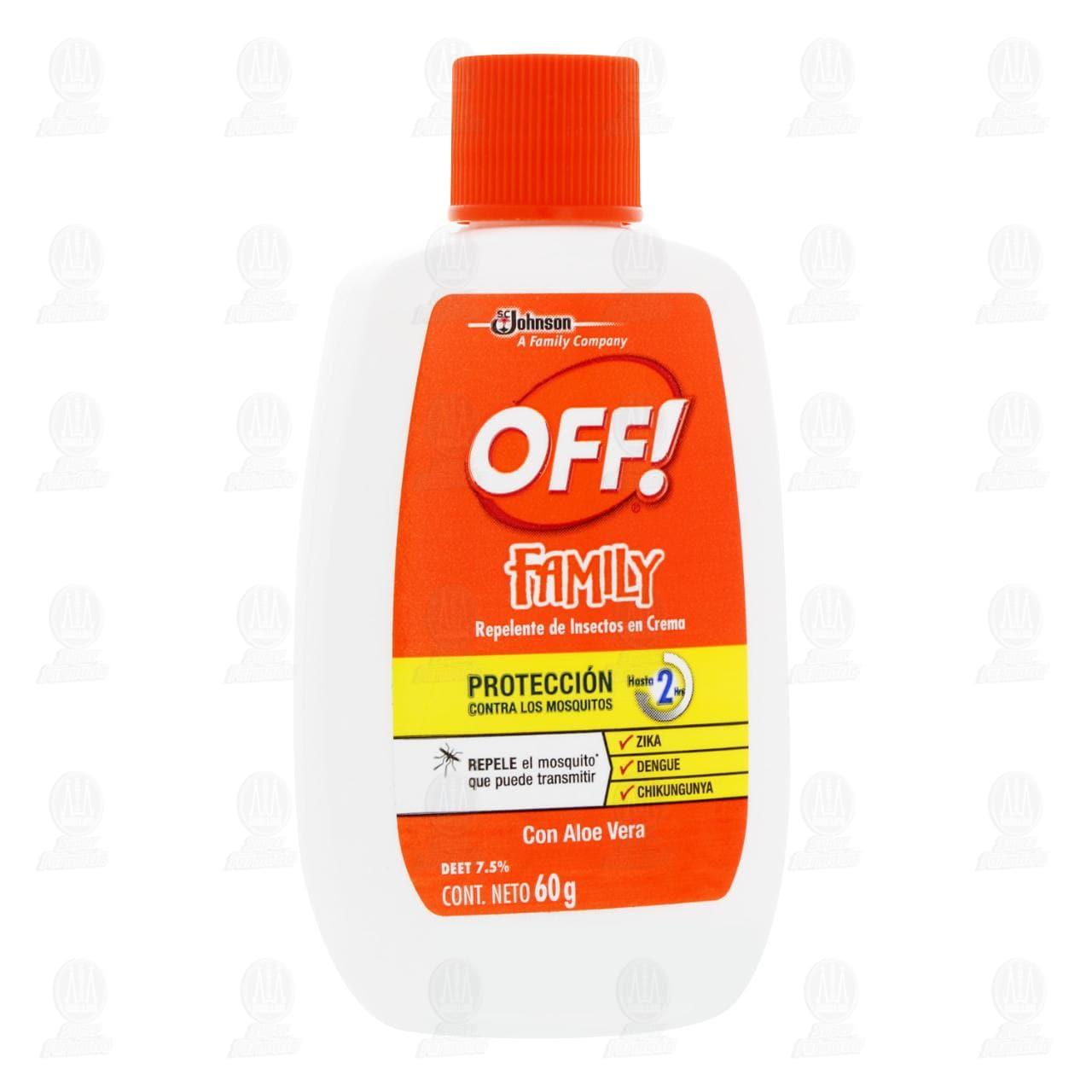 Repelente de Insectos Off! Family en Crema, 60 gr.