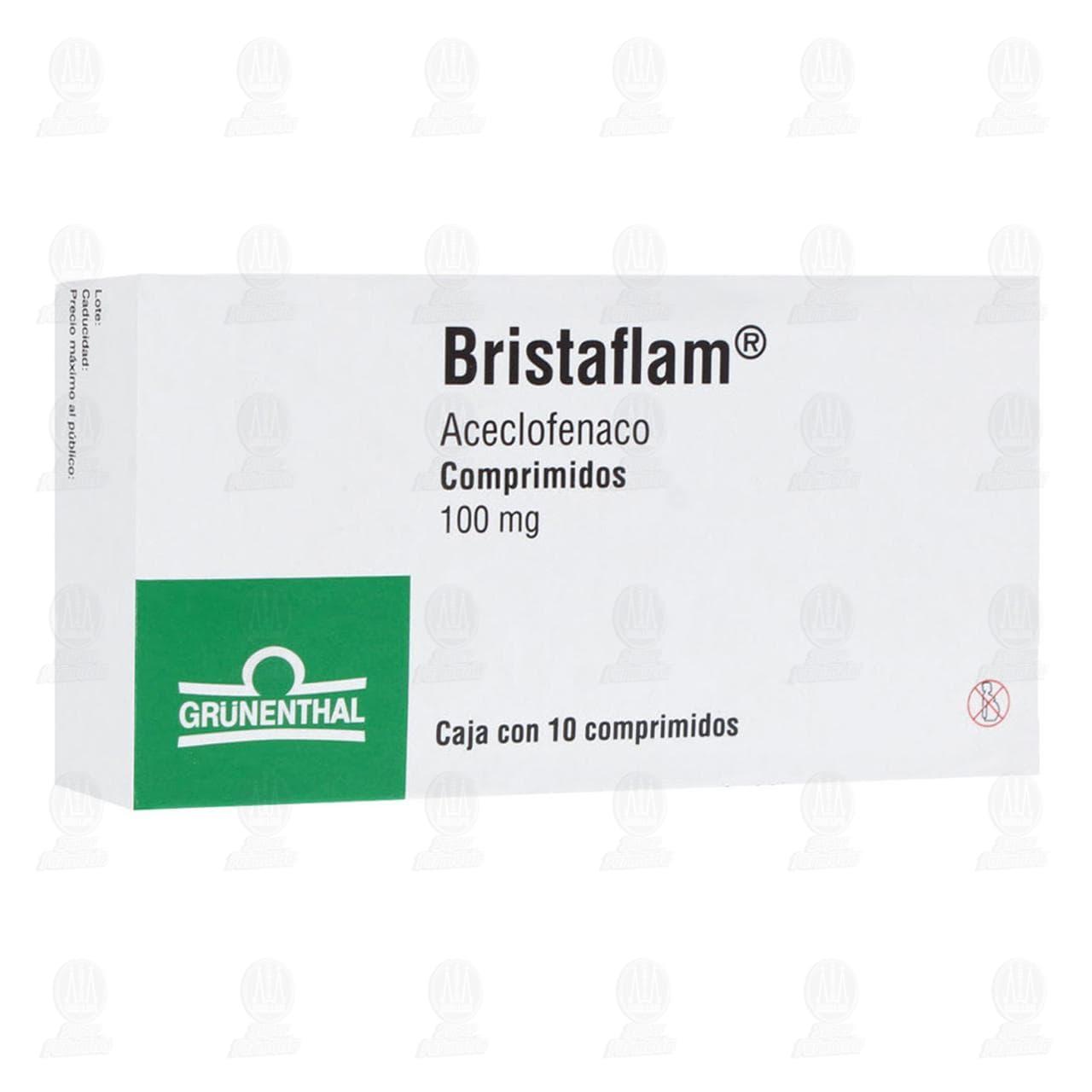 Comprar Bristaflam 100mg 10 Comprimidos en Farmacias Guadalajara