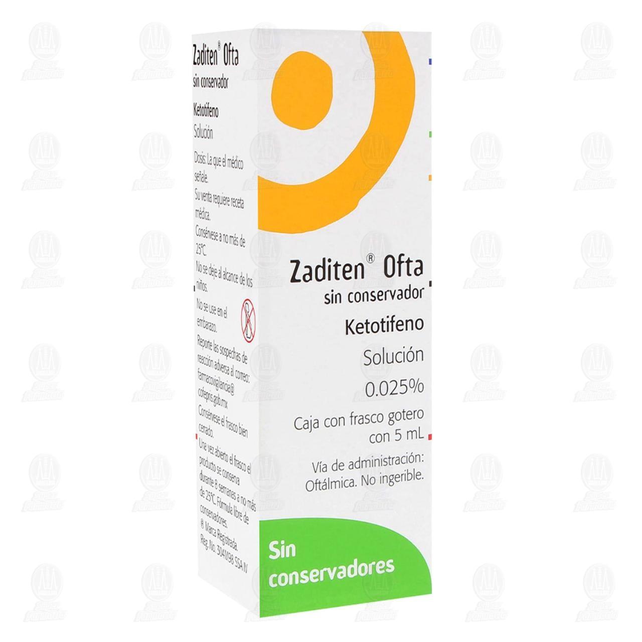 Comprar Zaditen Ofta .025% 5ml Gotas en Farmacias Guadalajara