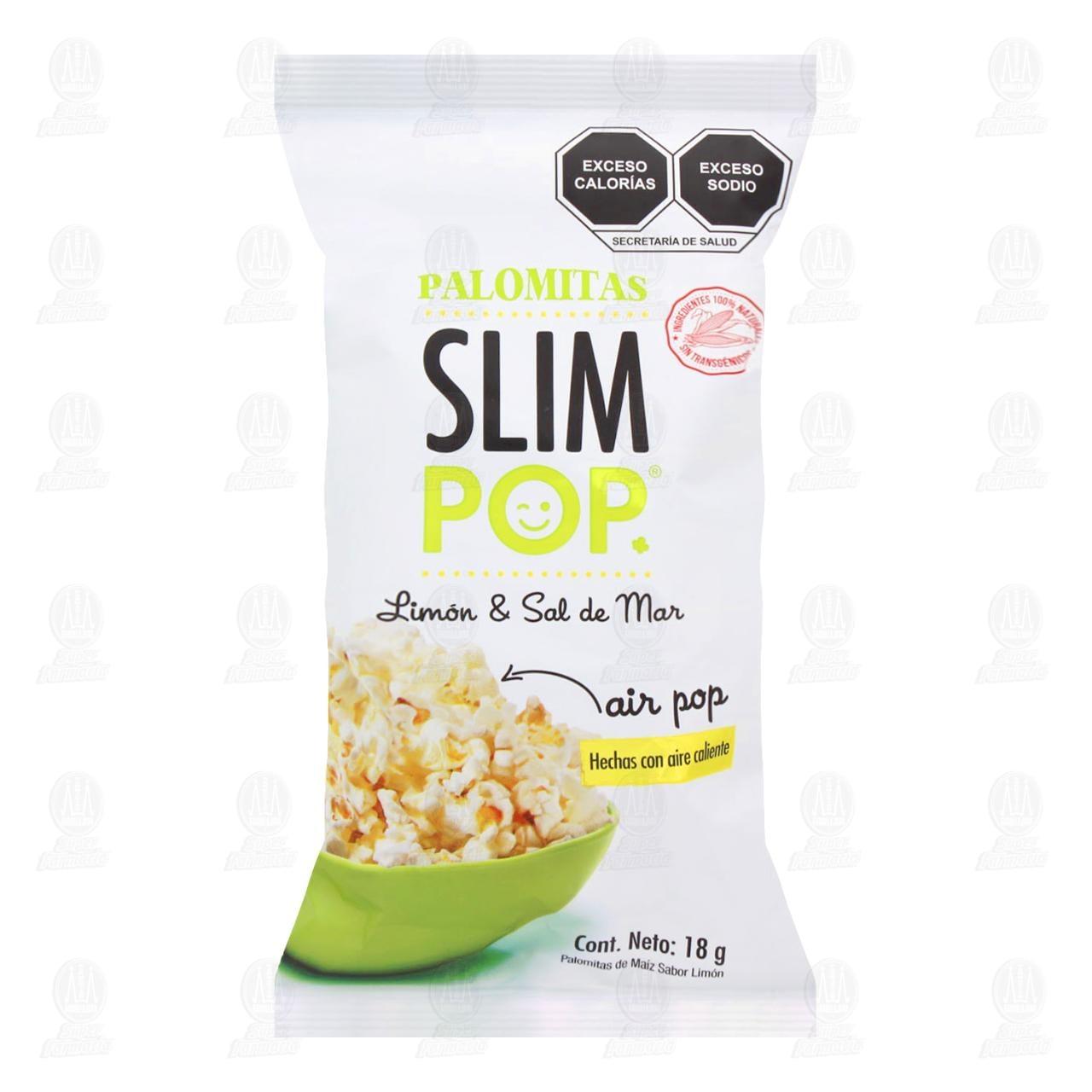 Palomitas Slim Pop Limón & Sal de Mar, 18 gr.
