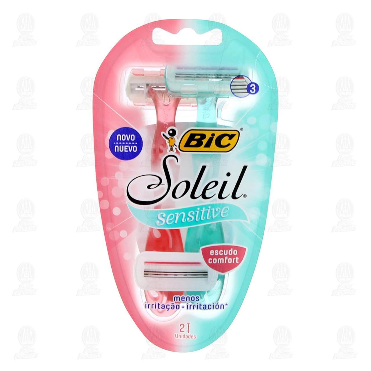 Comprar Máquinas para Afeitar Bic Soleil Sensitive Desechables, 2 pzas. en Farmacias Guadalajara
