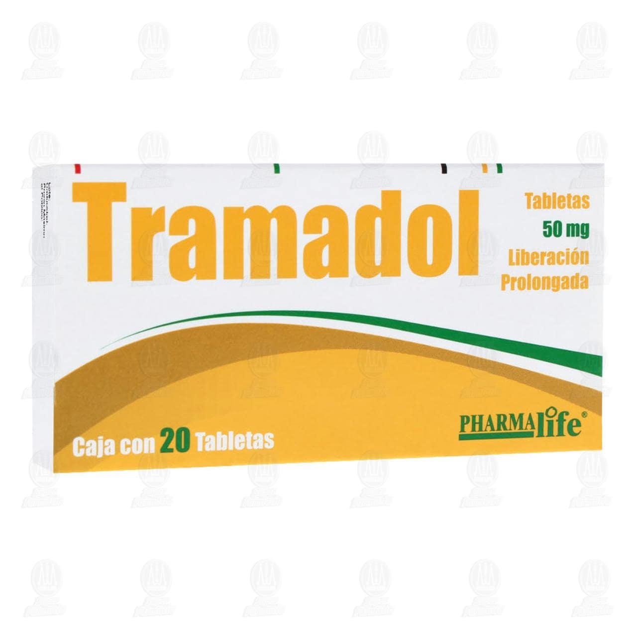 Comprar Tramadol 50mg 20 Tabletas Liberación Prolongada en Farmacias Guadalajara