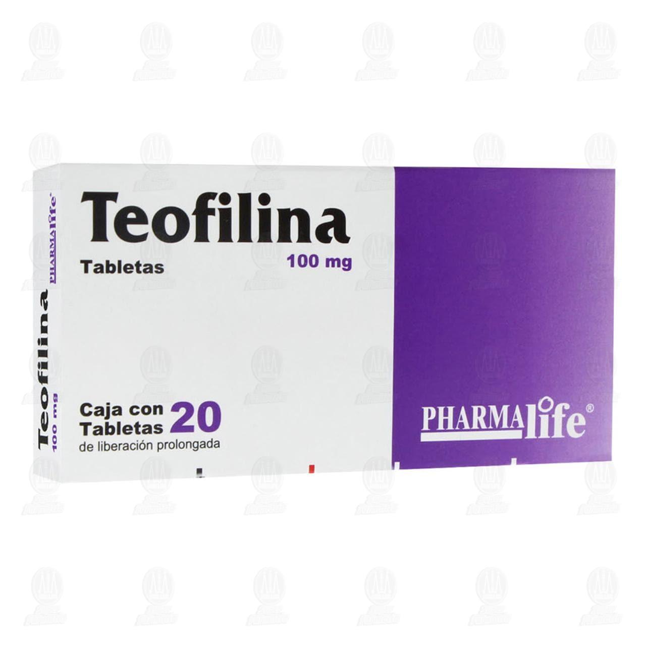 Comprar Teofilina 100mg 20 Tabletas Pharmalife en Farmacias Guadalajara