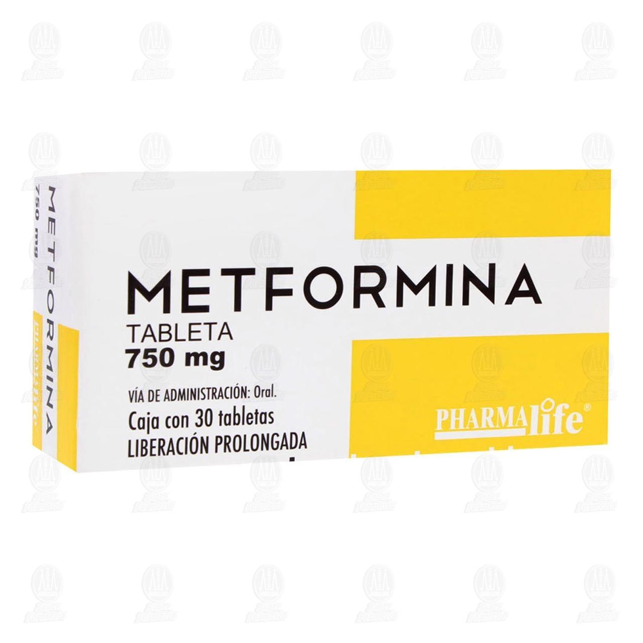 Comprar Metformina 750mg 30 Tabletas Pharmalife en Farmacias Guadalajara