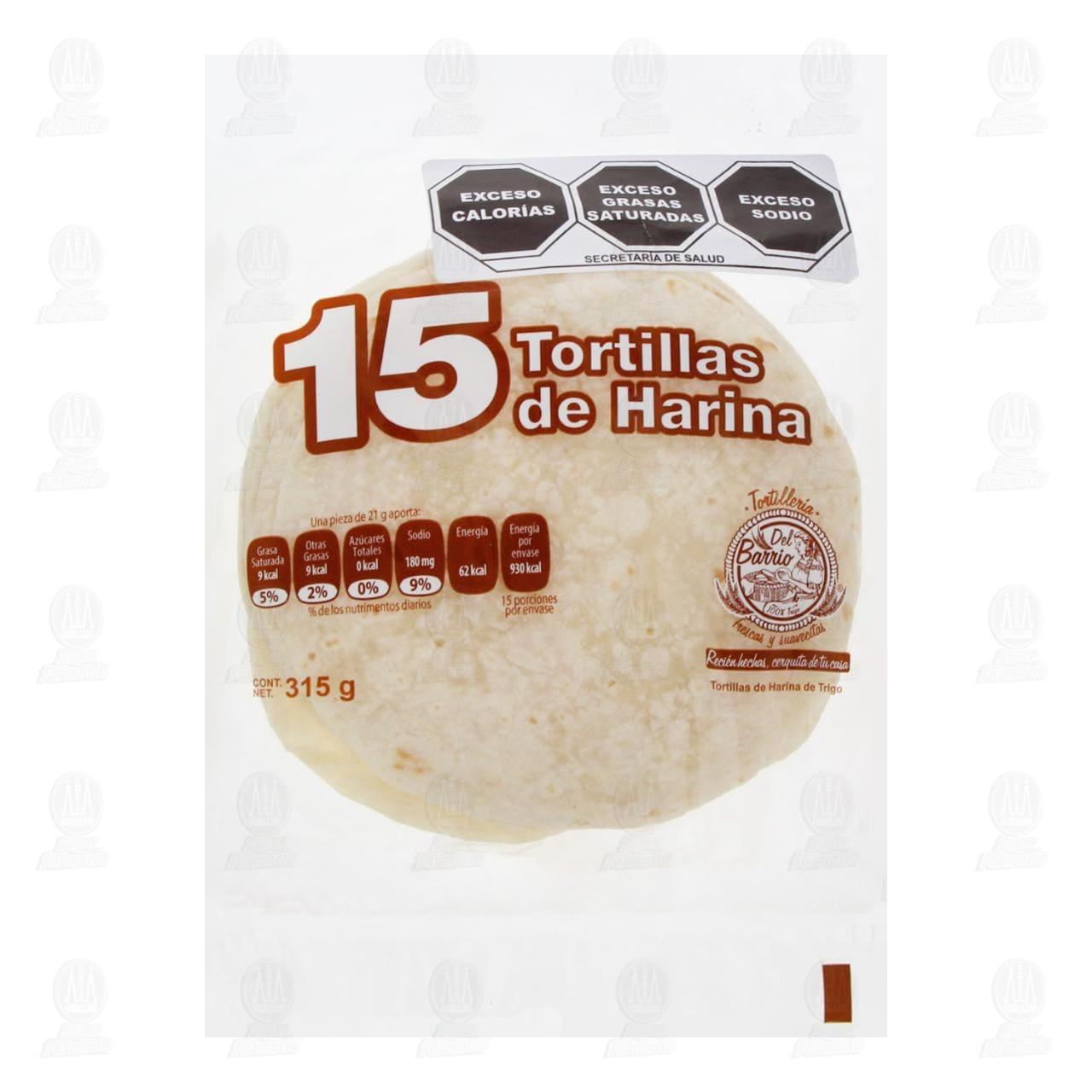 Tortillas de Harina Tortillería Del Barrio, 315 gr.