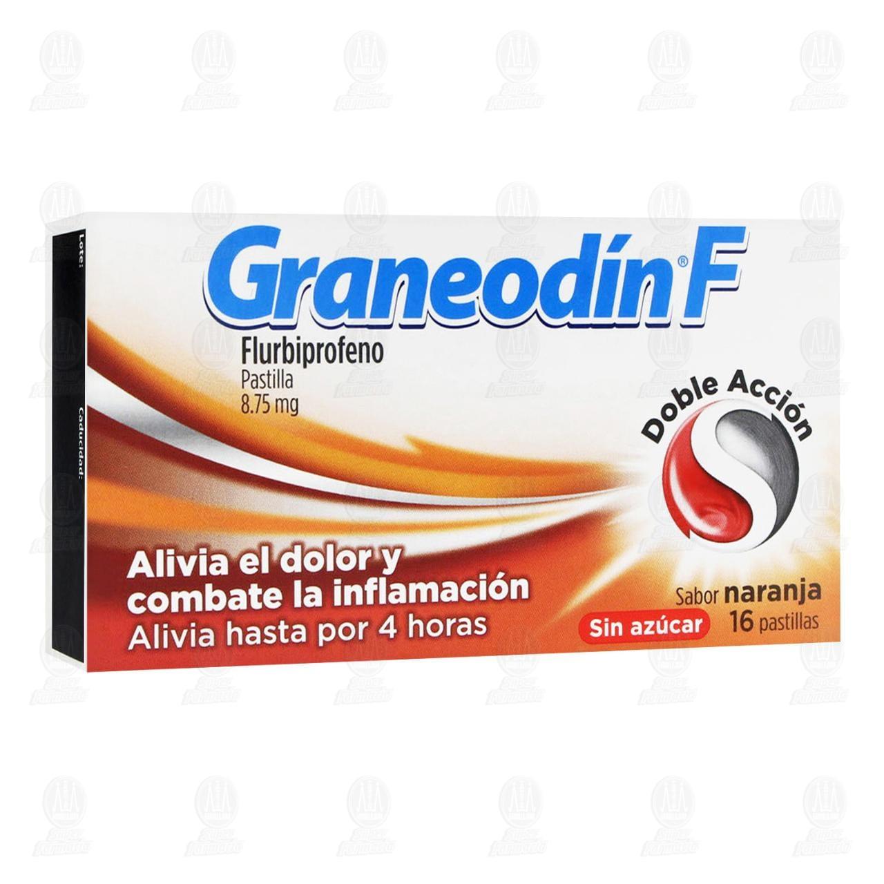 Comprar Graneodín F Sabor Naranja 16 Pastillas en Farmacias Guadalajara