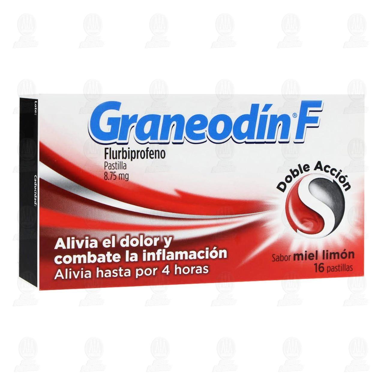 Comprar Graneodín F Sabor Miel Limón 16 Pastillas en Farmacias Guadalajara